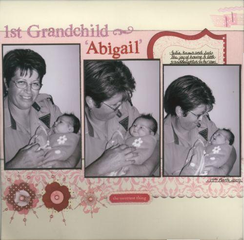 1st Grandchild - Abigail