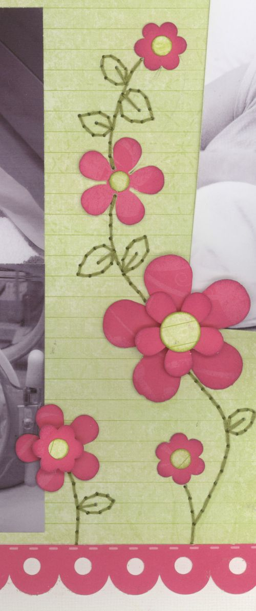 Detail on Baby Abigail layout