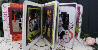 Side view of mini album
