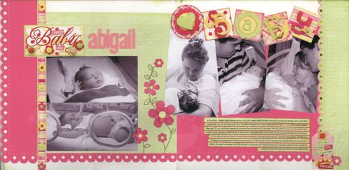 Baby Abigail- double layout