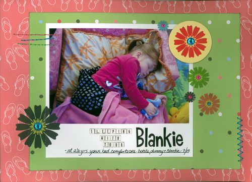 Sleeping with your Blankie